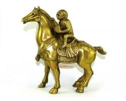 Brass Feng Shui Monkey on Horse (L)