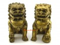 Pair of Brass Feng Shui Fu Dogs (L)