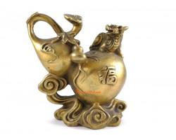 Brass Feng Shui Wu Lou with Pi Yao and Ru Yi