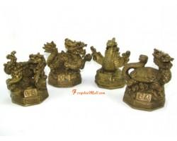 Brass Four Feng Shui Celestial Animals