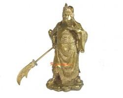 Brass Majestic Standing Kwan Kung (L)