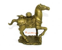Brass Horse with Ingot and Fly for Instant Wealth and Victory