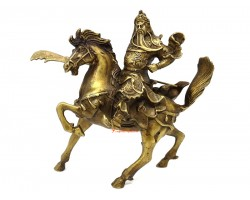 Brass Kwan Kong on Victory Horse (L)