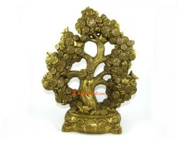 Brass Money Coin Tree