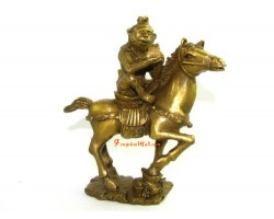 Brass Monkey on Horse with Stamp (L)