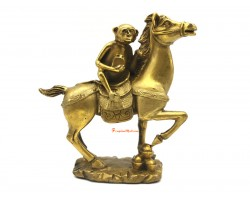 Brass Monkey With Stamp on Horse