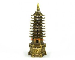 Brass Nine Level Feng Shui Pagoda