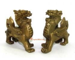 Brass Pair Mini Feng Shui Piyao
