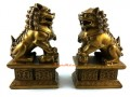 Brass Pair of Feng Shui Fu Dogs