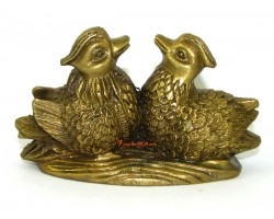 Brass Pair of Mandarin Ducks