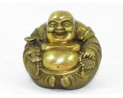 Brass Round Laughing Buddha