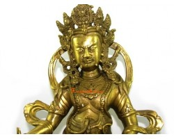 Brass Tibetan Wealth God Dzambala (L)