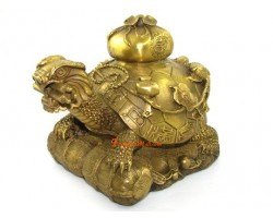 Brass Tortoise with Eight Immortals Magical Objects