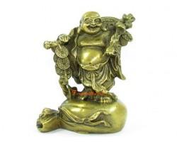 Brass Travelling Laughing Buddha