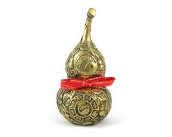 Brass Wu Lou with Gourds and Bagua