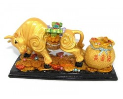 Bull with Bag of Wealth and Ru Yi