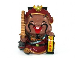 Cute Chinese Wealth God for Business Luck Piggy Bank