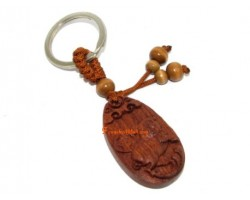 Chinese Horoscope Wood Keychain - Boar