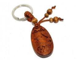 Chinese Horoscope Wood Keychain - Dog