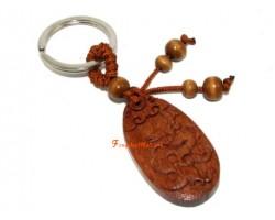 Chinese Horoscope Wood Keychain - Dragon