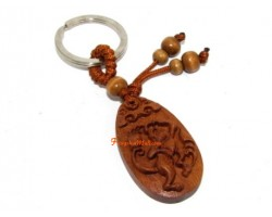 Chinese Horoscope Wood Keychain - Monkey