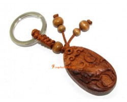 Chinese Horoscope Wood Keychain - Ox