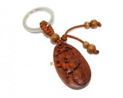 Chinese Horoscope Wood Keychain - Rabbit