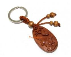 Chinese Horoscope Wood Keychain - Rat