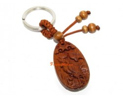 Chinese Horoscope Wood Keychain - Rooster