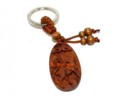 Chinese Horoscope Wood Keychain - Sheep