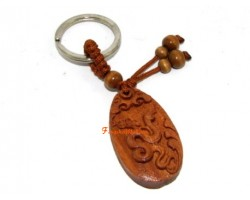 Chinese Horoscope Wood Keychain - Snake