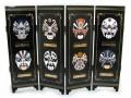 Chinese Tabletop Mini Folding Screens - Chinese Opera Masks