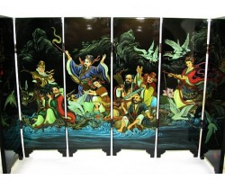 Chinese Tabletop Mini Screens - Eight Immortals & Magical Objects