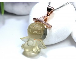 Citrine Angel Crystal Pendant