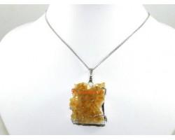 Citrine Cluster Pendant Necklace