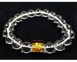 Clear Quartz Om Ommani Padme Hum Bracelet