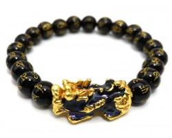 Color-changing Pi Xiu with Om Mani Obsidian Bracelet