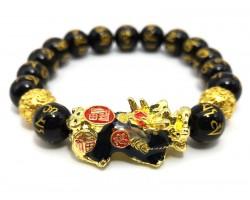 Color-changing Pi Yao with Om Mani Obsidian Bracelet