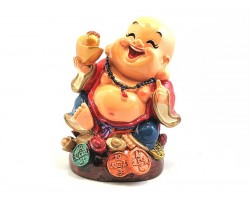 Colorful Adorable Laughing Buddha with Gold Ingot