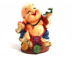 Colorful Adorable Laughing Buddha with Ru Yi