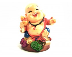 Colorful Adorable Laughing Buddha with Wu Lou