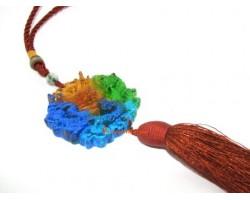 Colorful Crystal Liu Li Dragon Feng Shui Tassel