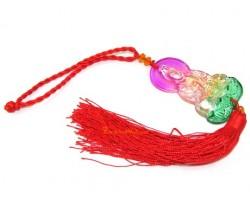 Colorful Glass Kuan Yin Hanging