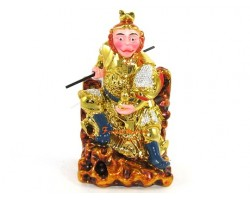 Colorful Sitting Monkey God Statue Sun Wu Kong