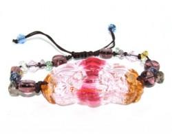 Colorful Liuli Dragon and Phoenix Bracelet
