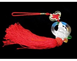 Colorful Glass Liuli Kuan Yin Tassel