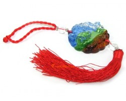 Colorful Liuli Crystal Money Frog Hanging