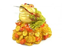 Colorful Money Frog with Bagua on Head (L)