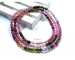 Colorful Tourmaline 3-Round Bracelet (Top Grade)