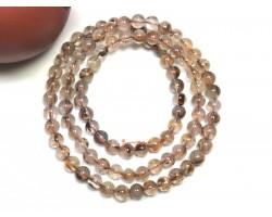Copper Titanium Rutilated Quartz 3-Round Bracelet
